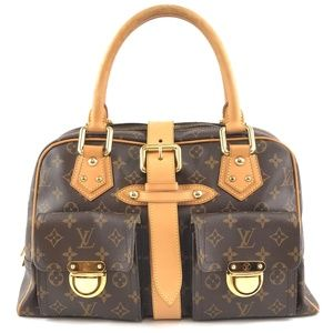 Manhattan Stripe Brown Monogram Canvas Satchel